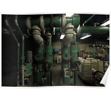 Green Pipes Poster
