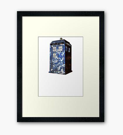 Dr Who Police Box T-Shirt Framed Print