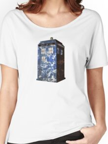 Dr Who Police Box T-Shirt Women's Relaxed Fit T-Shirt