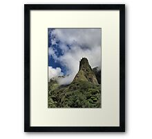 Iao Needle - West Maui Hawaii Framed Print