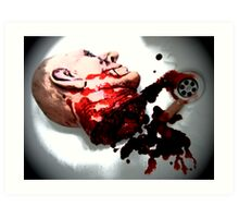 DONT LOOK IF YOUR SQUEMISH !!!!! Art Print
