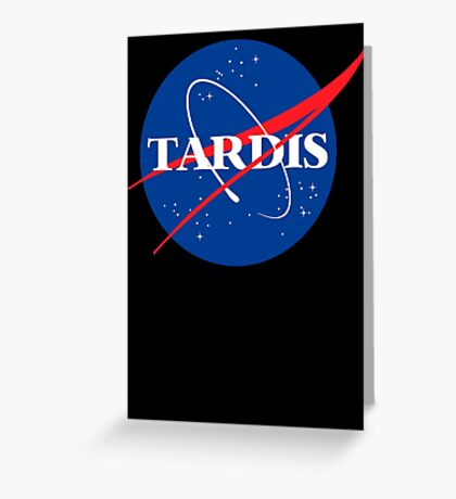 Dr Who Tardis T-Shirt Greeting Card