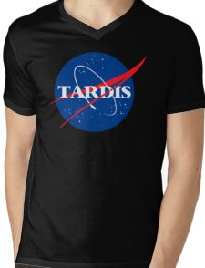 Dr Who Tardis T-Shirt Mens V-Neck T-Shirt