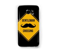 Gentleman Moustache Crossing caution sign. Samsung Galaxy Case/Skin