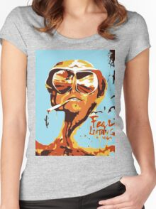 Fear and Loathing in Las Vegas Painting Women's Fitted Scoop T-Shirt