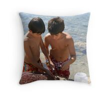 Sea Urchin Gatherers Throw Pillow