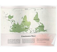 Consciousness-Raiser | South-Up Cartography  Poster