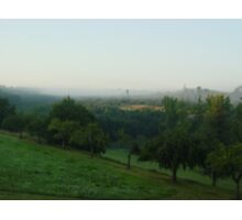 Early mist in the Dordogne Photographic Print