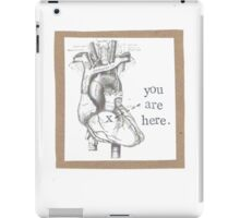 You Are Here Anatomical Heart iPad Case/Skin