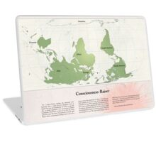 Consciousness-Raiser | South-Up Cartography  Laptop Skin