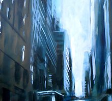Midtown New York Abstract Realism by Samuel Durkin