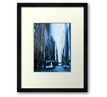 Midtown New York Abstract Realism Framed Print
