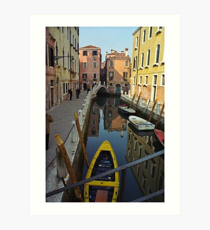 Venice Canal Scene Art Print