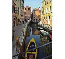 Venice Canal Scene Photographic Print