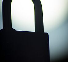 Combination code padlock silhouette photograph by edwardolive