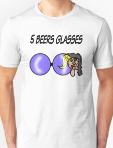5 Beers Glasses Unisex T-Shirt