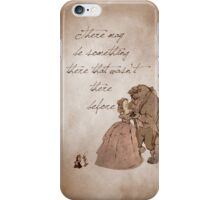 Beauty and the Beast inspired valentine. iPhone Case/Skin