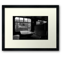 Empty Carriages Framed Print