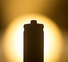 AAA Battery silhouette art photo by edwardolive