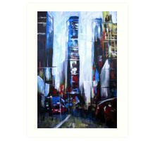Times Square New York Abstract Realism Art Print