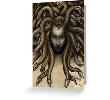 Dark Medusa Greeting Card