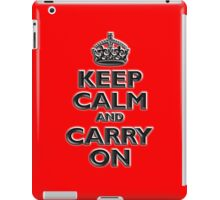 Keep Calm & Carry On, Be British! UK, Britain, (Chisel red) iPad Case/Skin