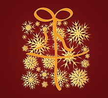 Golden snowflakes gift box by AnnArtshock