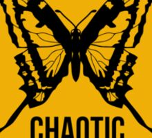 Chaotic system. The butterfly effect. Chaos theory. Sticker