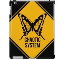 Chaotic system. The butterfly effect. Chaos theory. iPad Case/Skin