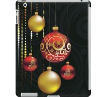 Red and Gold Christmas Balls iPad Case/Skin