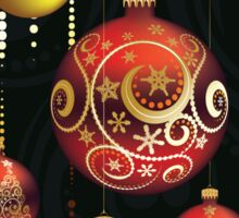 Red and Gold Christmas Balls Sticker