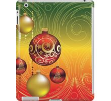 Red and Gold Christmas Balls 2 iPad Case/Skin