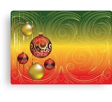 Red and Gold Christmas Balls 2 Canvas Print