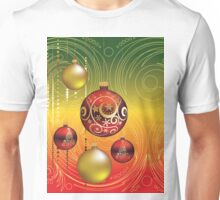 Red and Gold Christmas Balls 2 Unisex T-Shirt