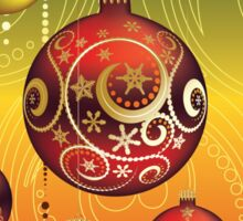 Red and Gold Christmas Balls 2 Sticker