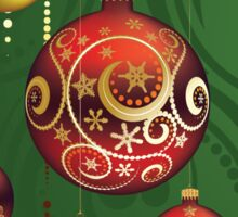 Red and Gold Christmas Balls 3 Sticker