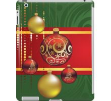 Red and Gold Christmas Balls 4 iPad Case/Skin