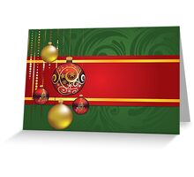 Red and Gold Christmas Balls 4 Greeting Card