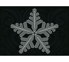Ornament Snowflake Photographic Print