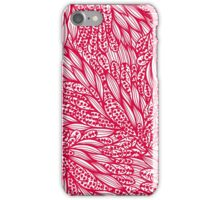 Pnk and white doodle floral pattern iPhone Case/Skin