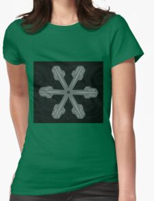 Ornament Snowflake 3 Womens Fitted T-Shirt
