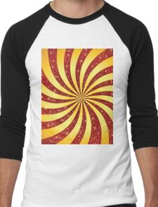 Red background with golden rays Men's Baseball ¾ T-Shirt