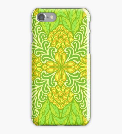 Abstract hand drawn floral ornament iPhone Case/Skin