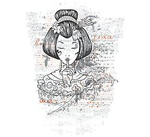Geisha Peace Photographic Print