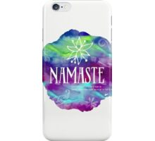 Namaste Confetti mix watercolor iPhone Case/Skin