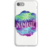 Namaste Confetti mix watercolor iPhone Case/Skin