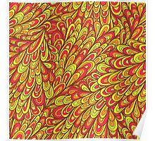 Hand drawn pattern with swirls Poster