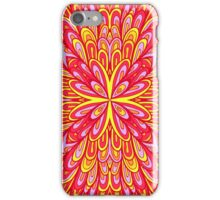 Pink and orange floral ornament iPhone Case/Skin