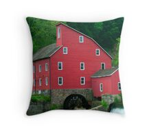 The Old Red Mill Throw Pillow