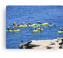 La Jolla, California ~ Great Day For Kayaking Canvas Print